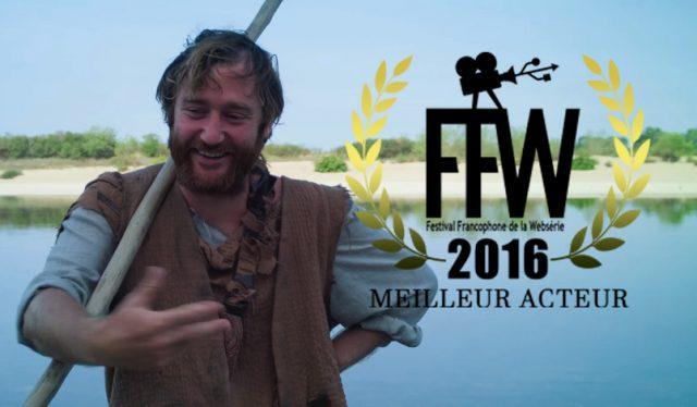 Basile Lacoeuilhe prix du Meilleur Acteur 2016 au FFW pour «Charon»